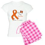 Leukemia Ribbon Grandma Women's Light Pajamas