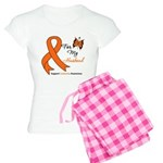 Leukemia Ribbon Husband Women's Light Pajamas