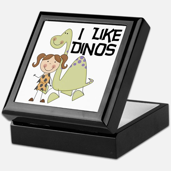 Girl I Like Dinos Keepsake Box
