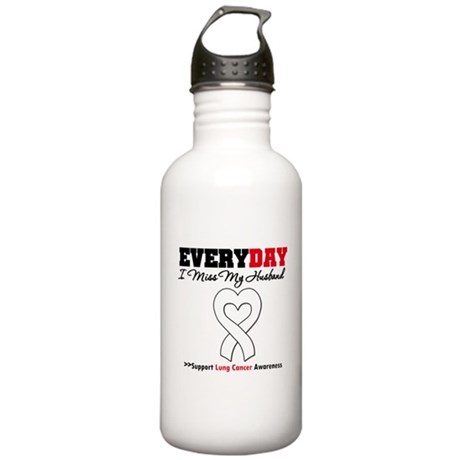 LungCancer MissMyHusband Stainless Water Bottle 1.