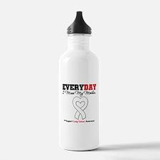 LungCancer MissMyMother Water Bottle