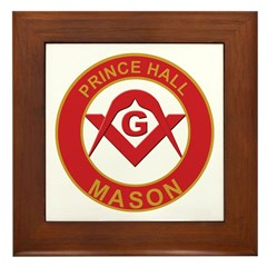 Masonic Prince Hall Framed Tile
