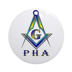 Masonic Prince Hall Ornament (Round)