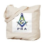 Masonic Prince Hall Tote Bag S&C + Cane