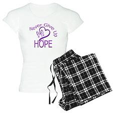 Fibromyalgia Never Give Up Ho pajamas
