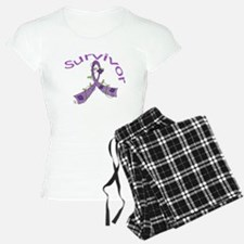 Fibromyalgia Floral Survivor pajamas