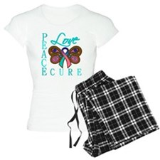 Thyroid Cancer PeaceLoveCure Pajamas
