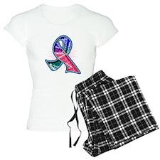 Thyroid Cancer Slogans Pajamas