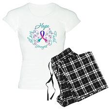 Thyroid Cancer Hope Faith Pajamas