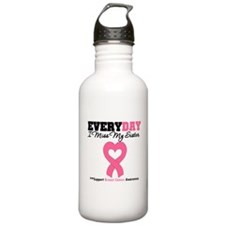 Breast Cancer Miss Sister Water Bottle