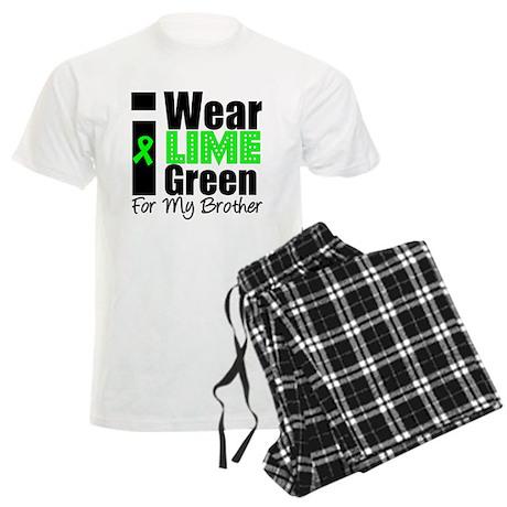 I Wear Lime Green Ribbon Men's Light Pajamas