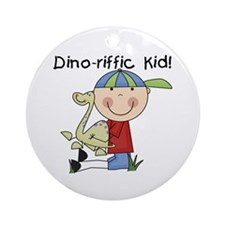 Dino-riffic Kid Ornament (Round)