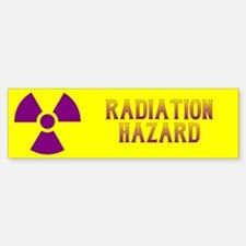 Radiation Hazard Bumper Bumper Sticker