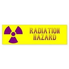 Radiation Hazard Bumper Sticker