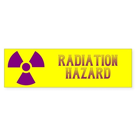 Radiation Hazard Sticker (Bumper)