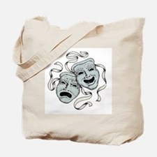 Vintage Comedy Tragedy Mask Tote Bag