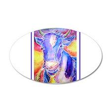 Cow! Purple cow art! Wall Decal