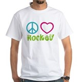 Colorful hearts Mens White T-shirts