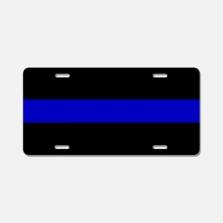 The Thin Blue Line Aluminum License Plate