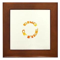 RING OF FIRE XIII Framed Tile