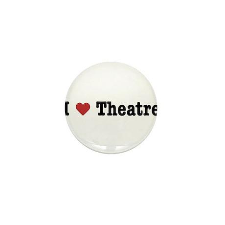 I Love Theatre Mini Button (10 pack)