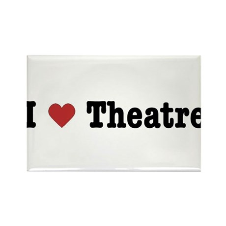 I Love Theatre Rectangle Magnet
