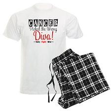 Cancer Wrong Diva Pajamas