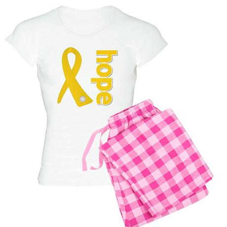 Gold Hope Ribbon Women's Light Pajamas