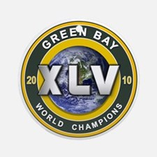 Green Bay 2010 World Champs Ornament (Round)