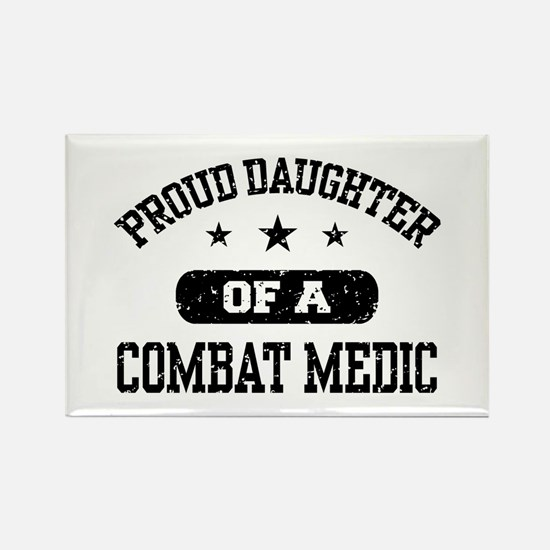 Proud Combat Medic Daughter Rectangle Magnet