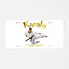 Karate Aluminum License Plate