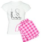 Lung Cancer Hero Ribbon Women's Light Pajamas