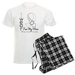 Lung Cancer Hero Ribbon Men's Light Pajamas