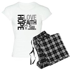 Brain Cancer Faith Pajamas