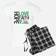 Liver Cancer Faith Pajamas