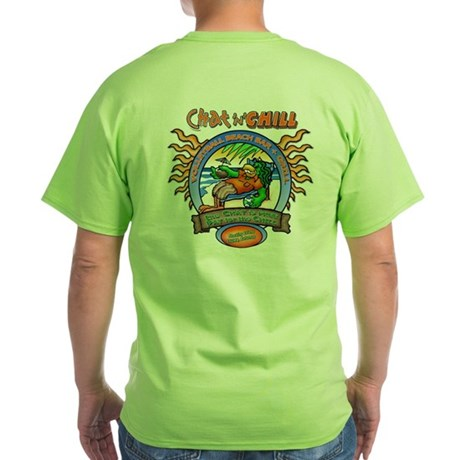 Chat 'N' Chill Beach Bum Green T-Shirt