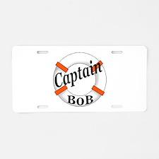 Captain Bob's Aluminum License Plate