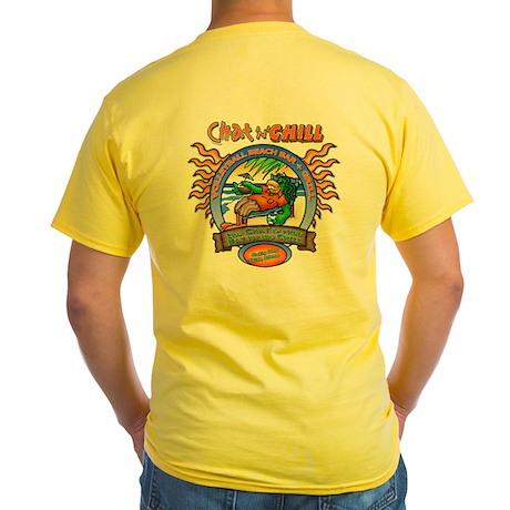 Chat 'N' Chill Beach Bum Yellow T-Shirt