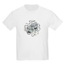 Comedy Tragedy Masks Kids T-Shirt
