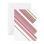 Retro Stripe Greeting Cards (Pk of 10)