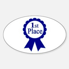 """1st Place"" Oval Decal"