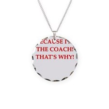 coach gifts t-shirts presen Necklace Circle Charm