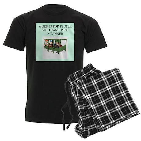 horse racing gifts t-shirts Men's Dark Pajamas