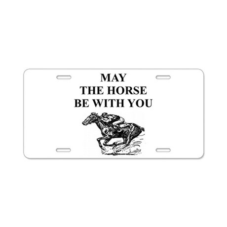 thoroughbred horse racing Aluminum License Plate