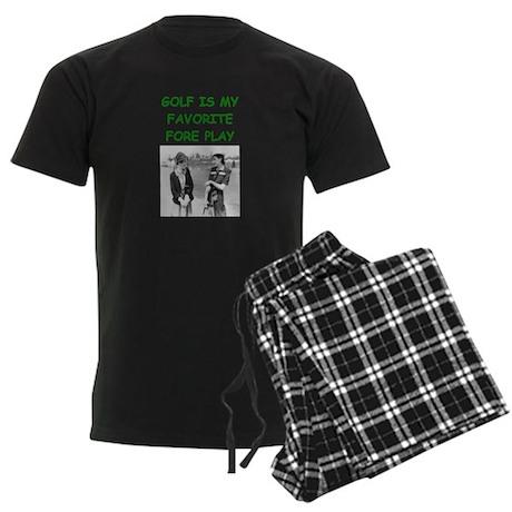 golf joke Men's Dark Pajamas