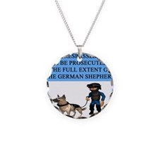 german shepherd trespasser Necklace
