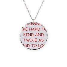 funny divorce joke for women Necklace