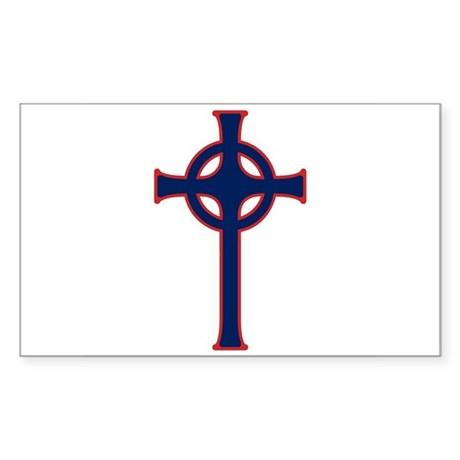 American Celtic Cross Rectangle Sticker