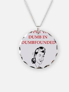 funny women's divorce joke Necklace