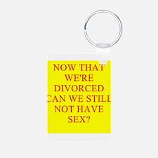 funny divorce joke Keychains
